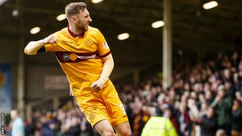 Motherwell striker Louis Moult