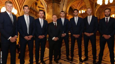 Britain's Davis Cup team (Broady far right)