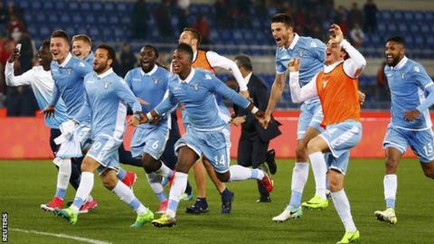 Lazio celebrate