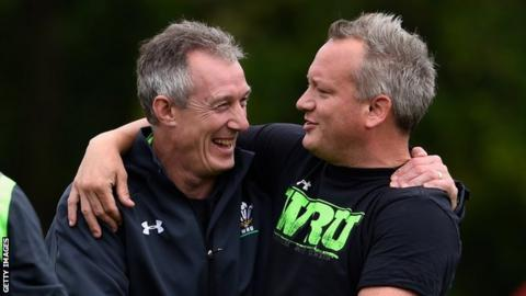 Rob Howley with Paul Stridgeon