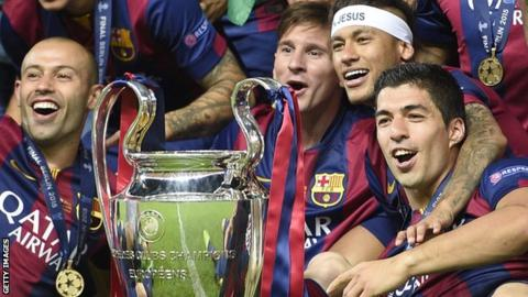 Champions League winners Barcelona 2015