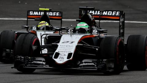 Nico Hulkenberg and Sergio Perez