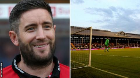Lee Johnson (left) & Craven Cottage