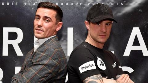 Anthony Crolla (left) and Ricky Burns