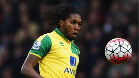 Norwich and DR Congo striker Dieumerci Mbokani
