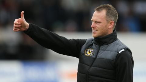 Newport County manager Mike Flynn