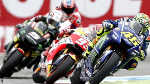 Valentino Rossi leads the way in Assen