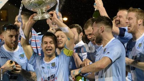 Ballymena's 2-0 victory over Carrick rangers saw them lift the League Cup for the first time in their history