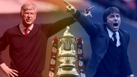 Arsene Wenger and Antonio Conte