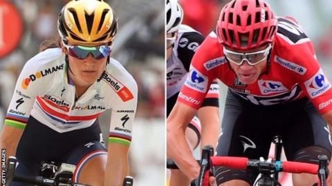 Lizzie Deignan and Chris Froome