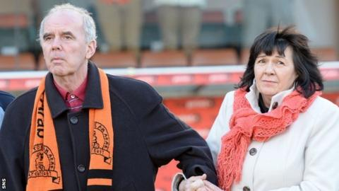 Frank Kopel and his Wife Amanda during a visit to Tannadice in 2014
