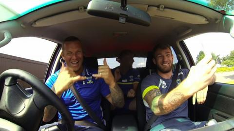 Car Kareoke with Warrington Wolves