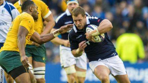 Allan Dell made his Scotland debut against Australia at Murrayfield in 2016
