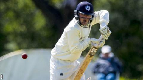 Hamish Gardiner was bowled out by Vivian Kingma on his first ball