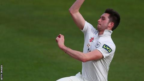 Gloucestershire left-arm paceman Matt Taylor
