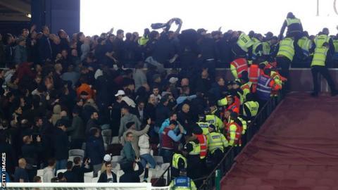 West Ham crowd trouble