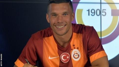Lukas Podolski signs for the Turkish champions