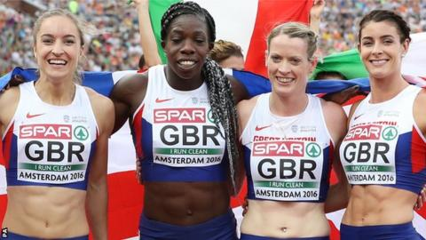 Emily Diamond, Anyika Onuora, Eilidh Doyle and Seren Bundy-Davies
