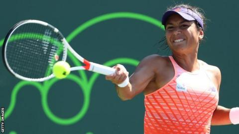 Heather Watson beaten by top seed Angelique Kerber in Monterrey
