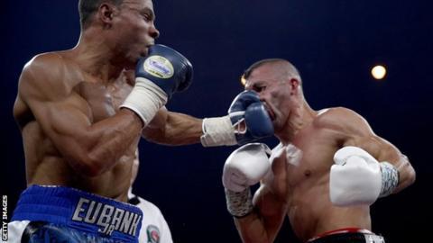 Chris Eubank Jr catches Avni Yildirim with a vicious left