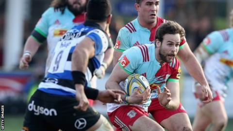 Ruaridh Jackson in action for Harlequins