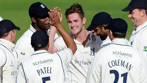 Mark Adair's maiden first-class wicket