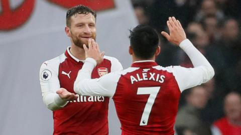Sanchez and Mustafi for Arsenal