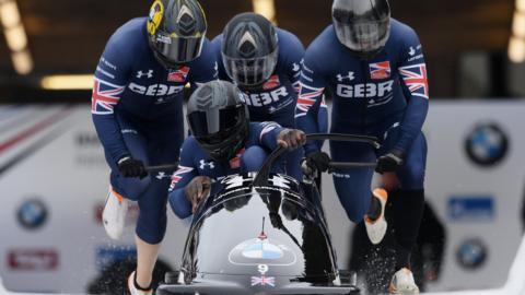 GB four-man bobsleigh team