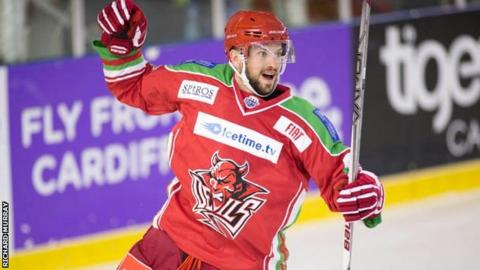 Joey Martin of the Cardiff Devils