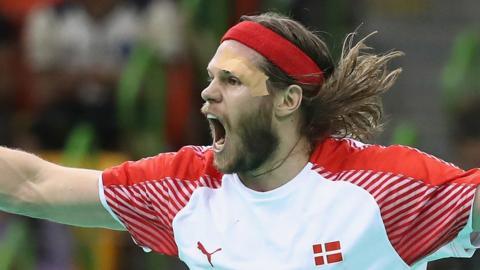 Mikkel Hansen of Denmark