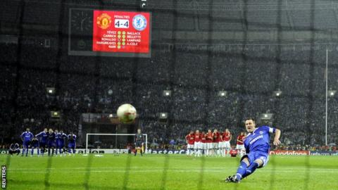 John Terry takes a penalty for Chelsea