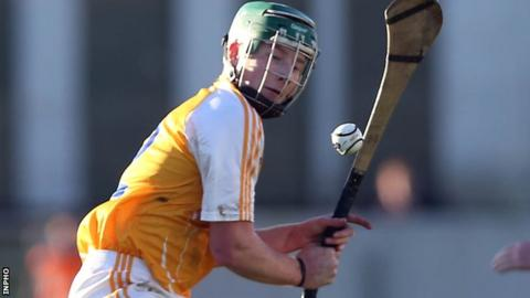 Niall McKenna netted Antrim's goal in the Ruislip defeat by London