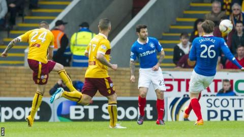 Marvin Johnson's only goal for Motherwell came against Rangers in the play-off final