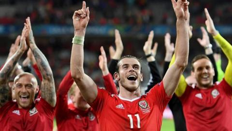 Wales celebrate victory