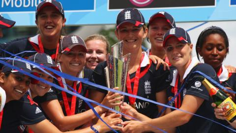 England lift the Women's World Cup in 2009