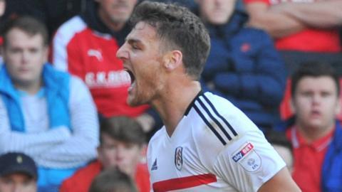 Chris Martin celebrates scoring for Fulham