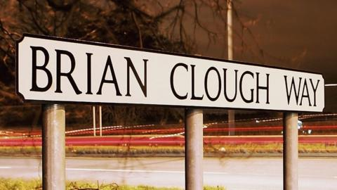 Brian Clough Way sign