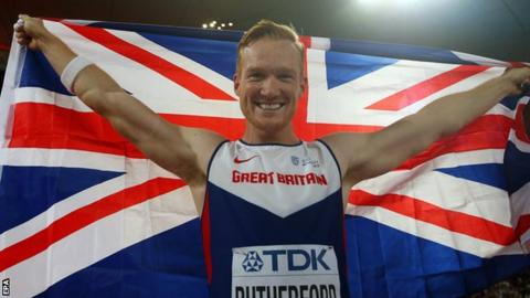 Rutherford claimed the World outdoor title in 2015