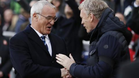 Claudio Ranieri and David Moyes