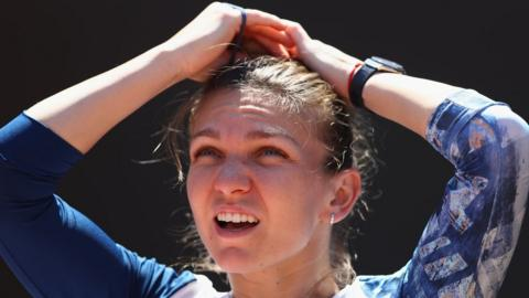 Simona Halep was injured in the Italian Open final