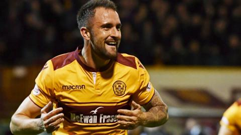 Motherwell scorer Peter Hartley
