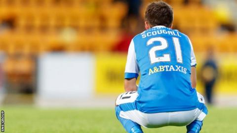 Summer signing Stefan Scougall started for Saints in Lithuania