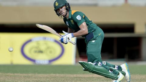 South Africa's Farhaan Behardien plays a shot during a One-day International (ODI)