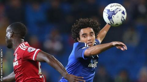 Fabio in action for Cardiff City