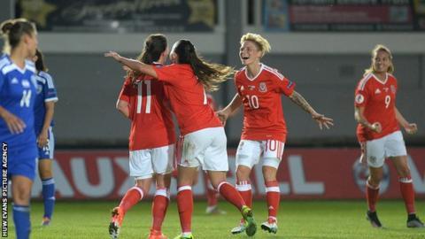 Wales action shot (goal celebration)