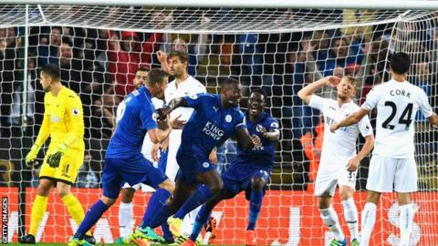 Highlights: Swansea beat down-and-almost-out champions Leicester City