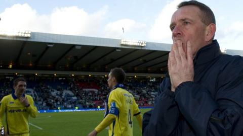 Kenny Shiels finds it hard to celebrate despite Kilmarnock's League Cup win