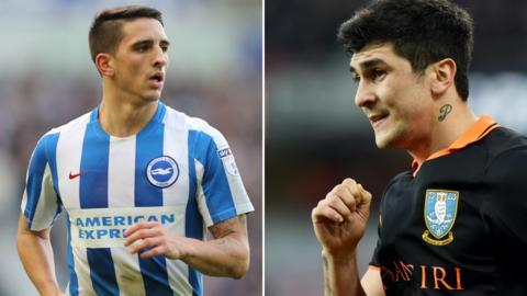 Brighton winger Anthony Knockaert and Sheffield Wednesday forward Fernando Forestieri