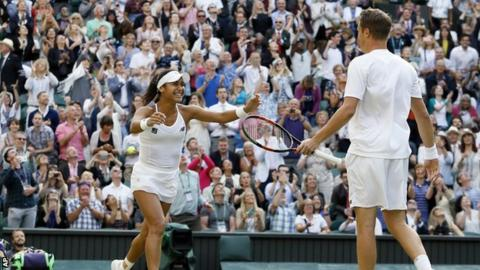 Heather Watson and Henri Kontinen through to mixed doubles semi-final