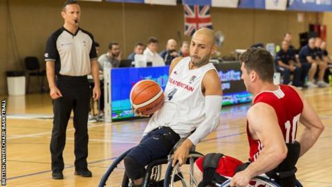 Great Britain's wheelchair basketball team